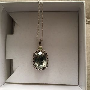 Jewelry - 14kt gold and green quartz pendant